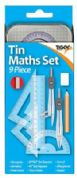 Tiger 9 Piece Mathematical Instruments Set in Tin Case